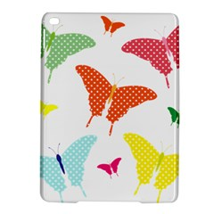 Beautiful Colorful Polka Dot Butterflies Clipart Ipad Air 2 Hardshell Cases by BangZart