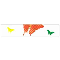 Beautiful Colorful Polka Dot Butterflies Clipart Flano Scarf (small)