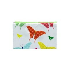 Beautiful Colorful Polka Dot Butterflies Clipart Cosmetic Bag (xs) by BangZart