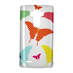 Beautiful Colorful Polka Dot Butterflies Clipart Lg G4 Hardshell Case