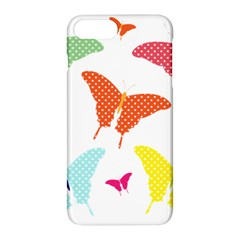 Beautiful Colorful Polka Dot Butterflies Clipart Apple Iphone 7 Plus Hardshell Case