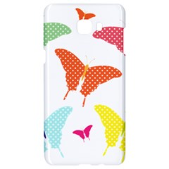 Beautiful Colorful Polka Dot Butterflies Clipart Samsung C9 Pro Hardshell Case  by BangZart