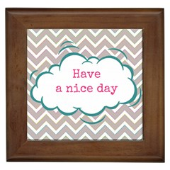 Have A Nice Day Framed Tiles