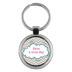 Have A Nice Day Key Chains (round)  by BangZart