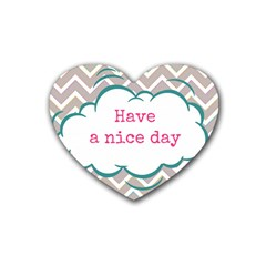 Have A Nice Day Heart Coaster (4 Pack)