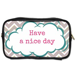 Have A Nice Day Toiletries Bags by BangZart
