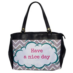 Have A Nice Day Office Handbags by BangZart