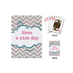 Have A Nice Day Playing Cards (Mini)