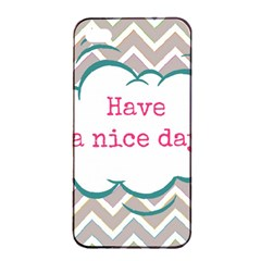 Have A Nice Day Apple Iphone 4/4s Seamless Case (black) by BangZart