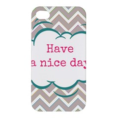 Have A Nice Day Apple Iphone 4/4s Premium Hardshell Case by BangZart