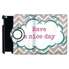 Have A Nice Day Apple Ipad 3/4 Flip 360 Case by BangZart