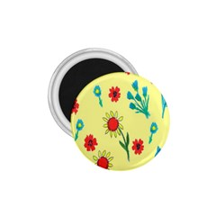 Flowers Fabric Design 1 75  Magnets by BangZart