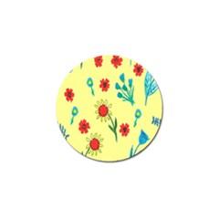 Flowers Fabric Design Golf Ball Marker (10 Pack) by BangZart