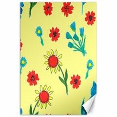 Flowers Fabric Design Canvas 20  X 30   by BangZart