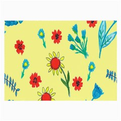 Flowers Fabric Design Large Glasses Cloth (2 Side)