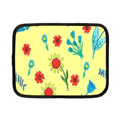 Flowers Fabric Design Netbook Case (small)