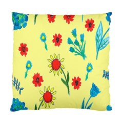 Flowers Fabric Design Standard Cushion Case (one Side) by BangZart