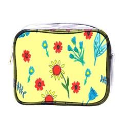 Flowers Fabric Design Mini Toiletries Bags