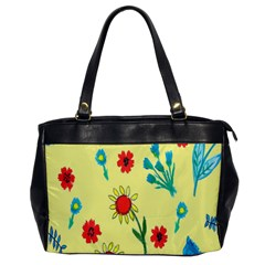 Flowers Fabric Design Office Handbags by BangZart