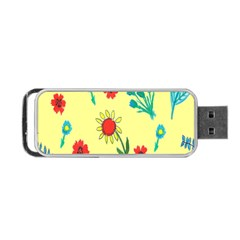 Flowers Fabric Design Portable Usb Flash (one Side) by BangZart