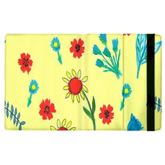 Flowers Fabric Design Apple Ipad 2 Flip Case by BangZart