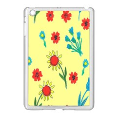 Flowers Fabric Design Apple Ipad Mini Case (white) by BangZart