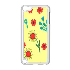 Flowers Fabric Design Apple Ipod Touch 5 Case (white) by BangZart