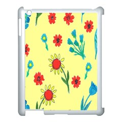 Flowers Fabric Design Apple Ipad 3/4 Case (white) by BangZart