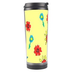 Flowers Fabric Design Travel Tumbler by BangZart