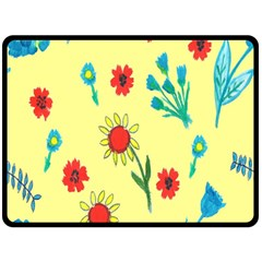 Flowers Fabric Design Double Sided Fleece Blanket (large)  by BangZart