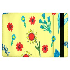 Flowers Fabric Design Ipad Air Flip by BangZart