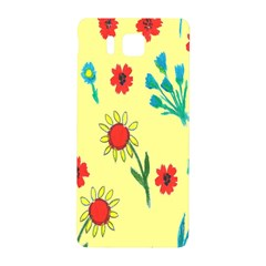 Flowers Fabric Design Samsung Galaxy Alpha Hardshell Back Case