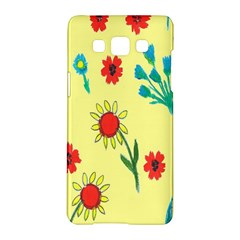 Flowers Fabric Design Samsung Galaxy A5 Hardshell Case