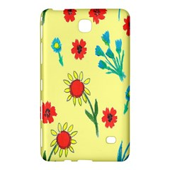 Flowers Fabric Design Samsung Galaxy Tab 4 (7 ) Hardshell Case  by BangZart