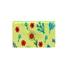 Flowers Fabric Design Cosmetic Bag (xs) by BangZart