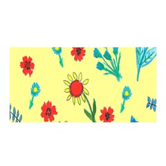 Flowers Fabric Design Satin Wrap