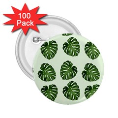 Leaf Pattern Seamless Background 2 25  Buttons (100 Pack)