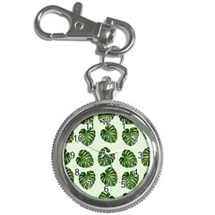 Leaf Pattern Seamless Background Key Chain Watches