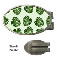 Leaf Pattern Seamless Background Money Clips (oval)  by BangZart