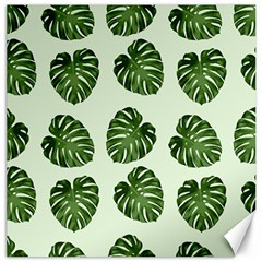 Leaf Pattern Seamless Background Canvas 20  X 20   by BangZart