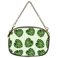 Leaf Pattern Seamless Background Chain Purses (one Side)  by BangZart