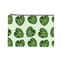 Leaf Pattern Seamless Background Cosmetic Bag (large)  by BangZart