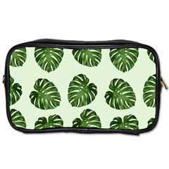 Leaf Pattern Seamless Background Toiletries Bags by BangZart