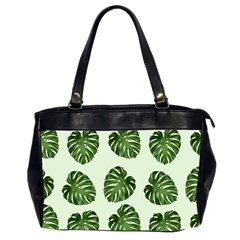 Leaf Pattern Seamless Background Office Handbags (2 Sides)  by BangZart