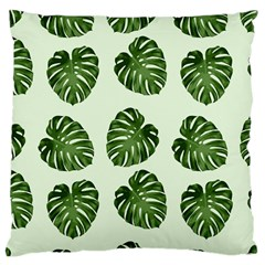 Leaf Pattern Seamless Background Large Cushion Case (two Sides) by BangZart