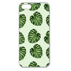 Leaf Pattern Seamless Background Apple Seamless Iphone 5 Case (clear)