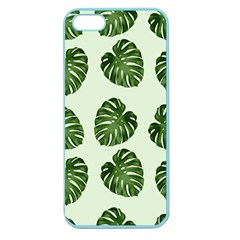 Leaf Pattern Seamless Background Apple Seamless Iphone 5 Case (color)