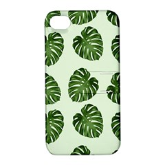 Leaf Pattern Seamless Background Apple Iphone 4/4s Hardshell Case With Stand by BangZart