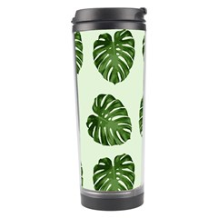 Leaf Pattern Seamless Background Travel Tumbler by BangZart