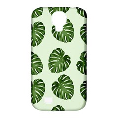 Leaf Pattern Seamless Background Samsung Galaxy S4 Classic Hardshell Case (pc+silicone) by BangZart